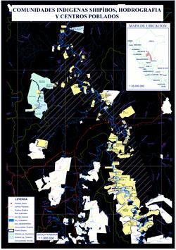 Mapas Comunidades Indigenas Shipibo Hodrografia y centros poblados
